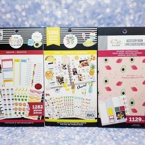 Recipe & Food Sticker Book & Accessory Happy Plann